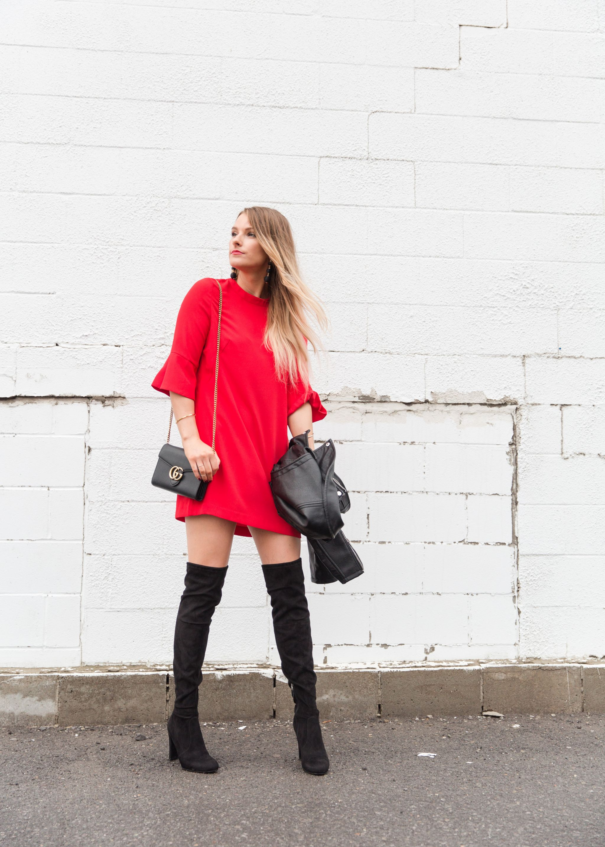 holiday dress with boots