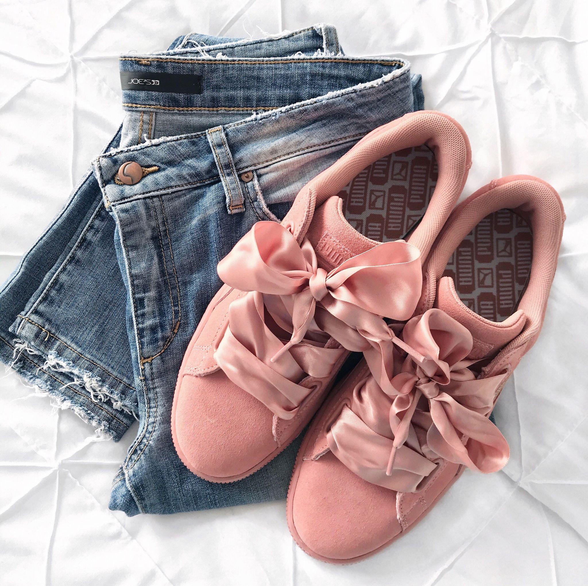 puma sneakers, blush sneakers