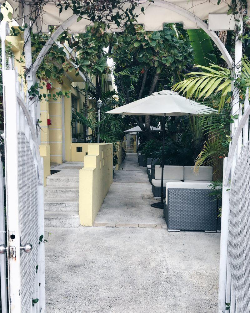 miami beach cute patio, life with aco, south beach
