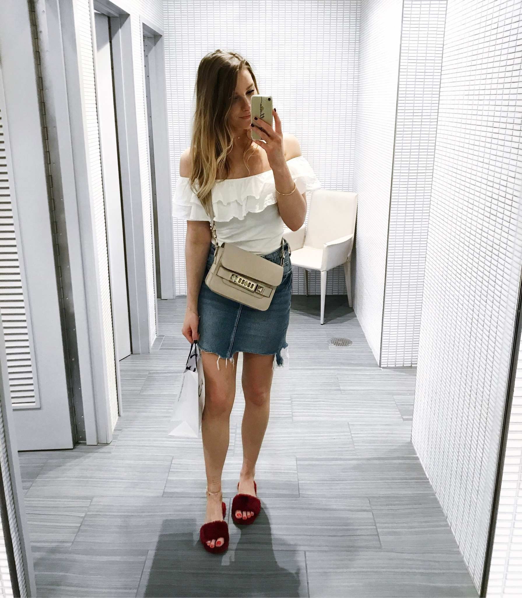 life with aco, miami recap, travel, proenza schouler, off shoulder ruffle top