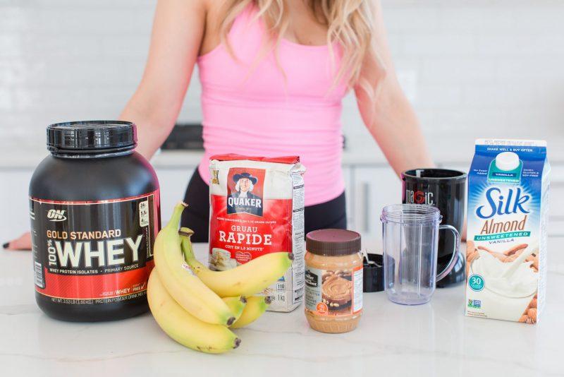 life with aco kitchen, protein smoothie ingredients, breakfast shake