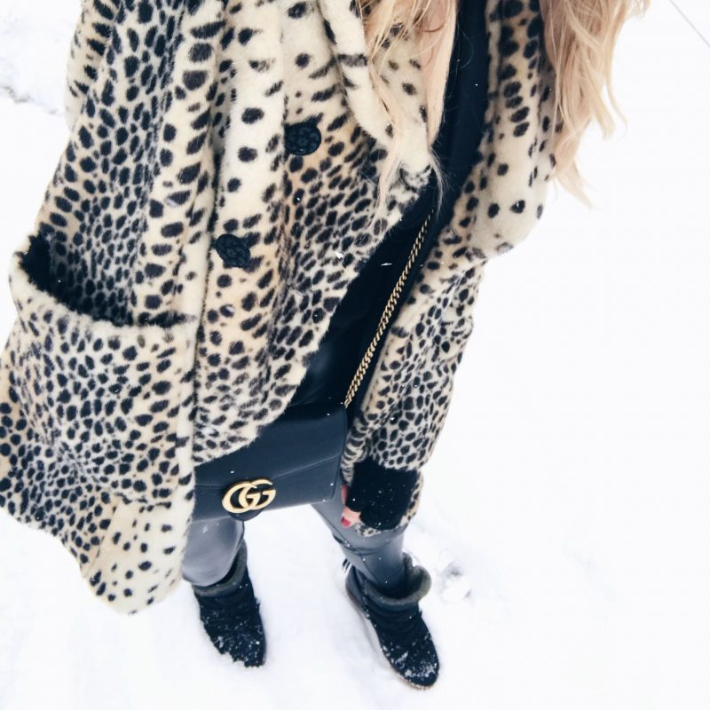 life with aco, leopard coat, isabel marant nowles boots