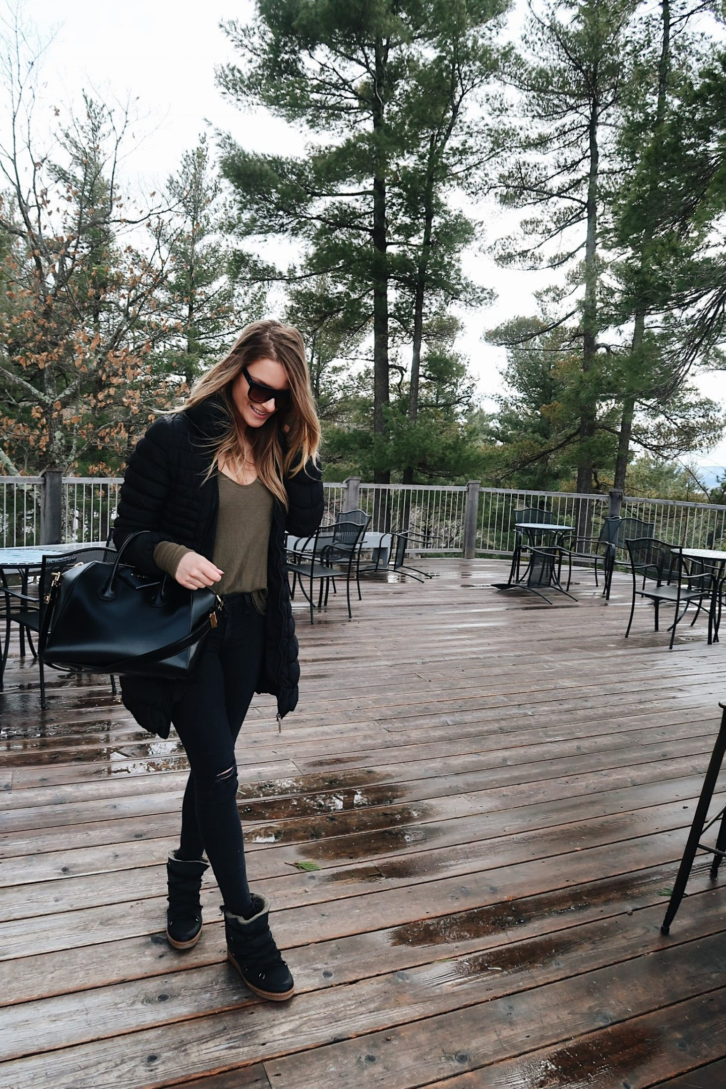 life with aco, free people thermal, fur snow boots, Amanda conquer Ottawa fashion blogger