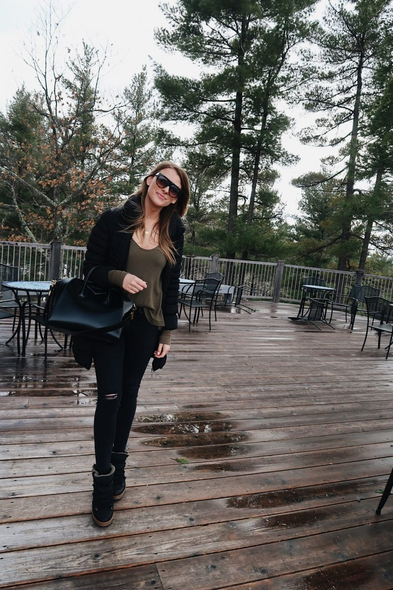 life with aco, what to wear in the winter, flat top sunglasses