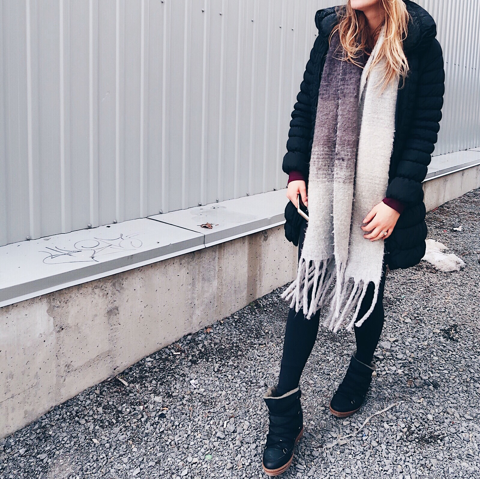 life with aco, weekend recap, grey scarf, isabel marant lace up boots winter outfit