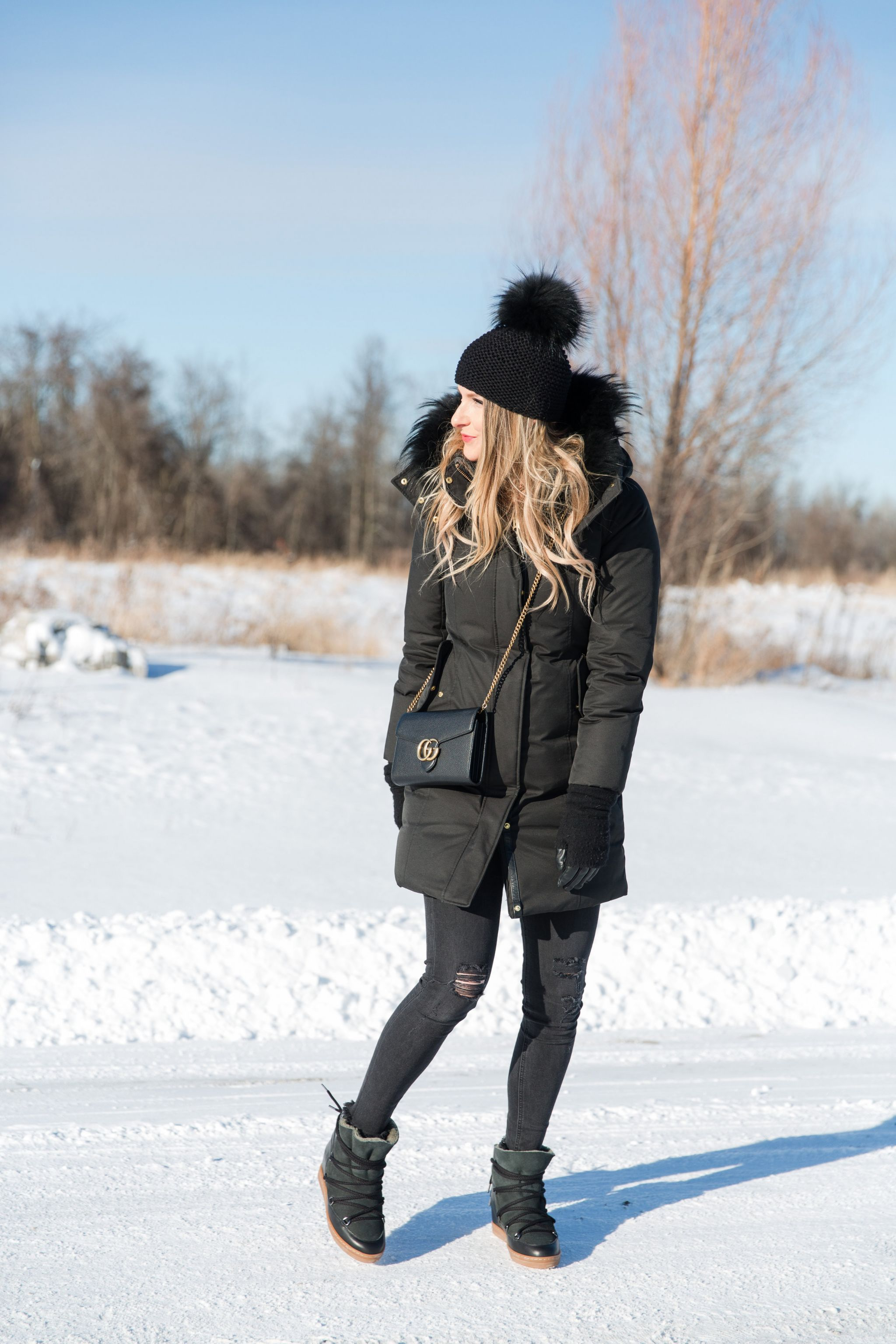 Sunny Cold Winter Day Outfit Life With A Co By Amanda L