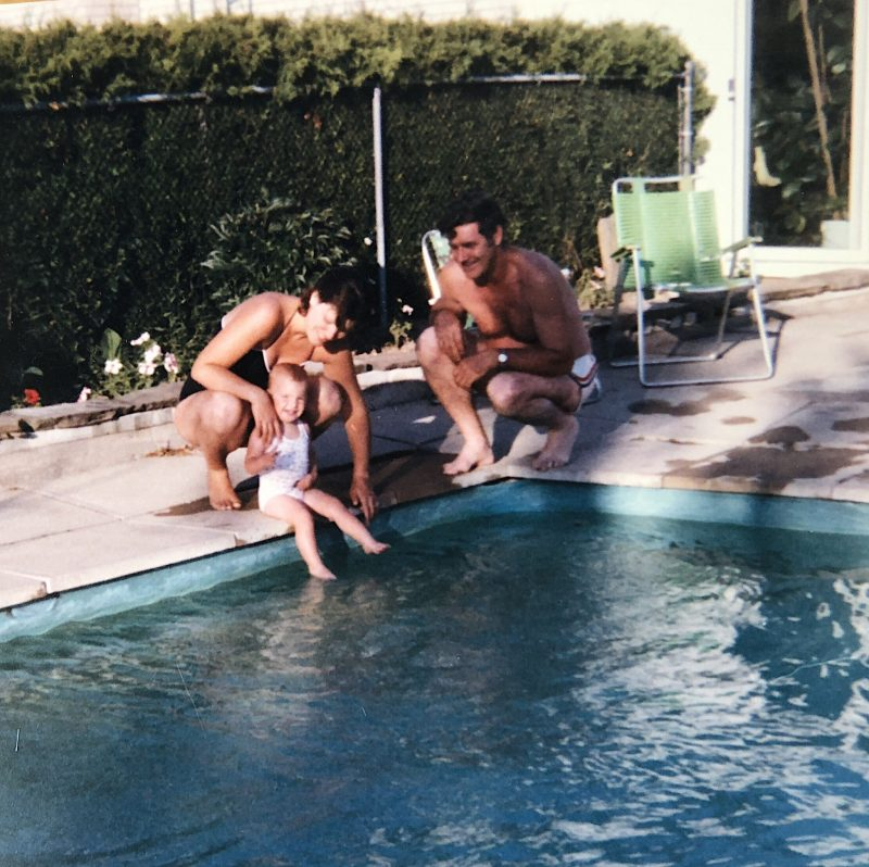 life with aco, swimming with grandpa, pool