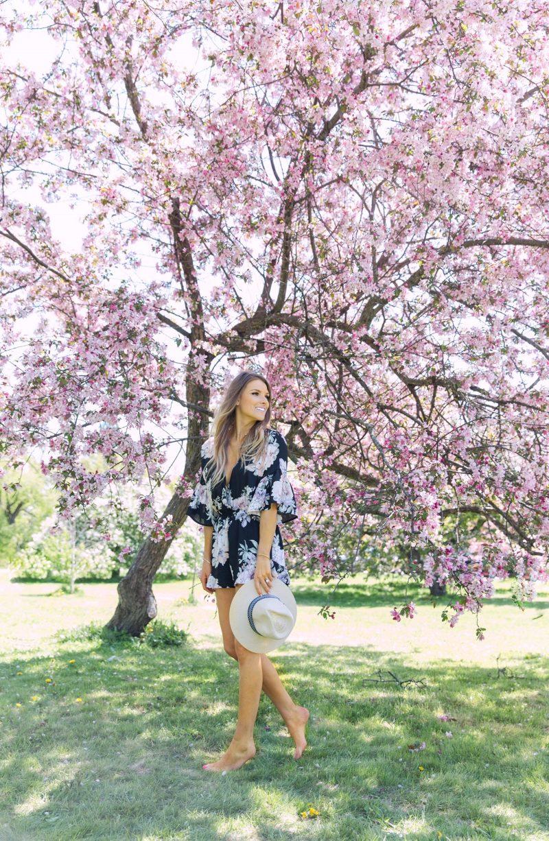1 person, cherry blossom trees ottawa