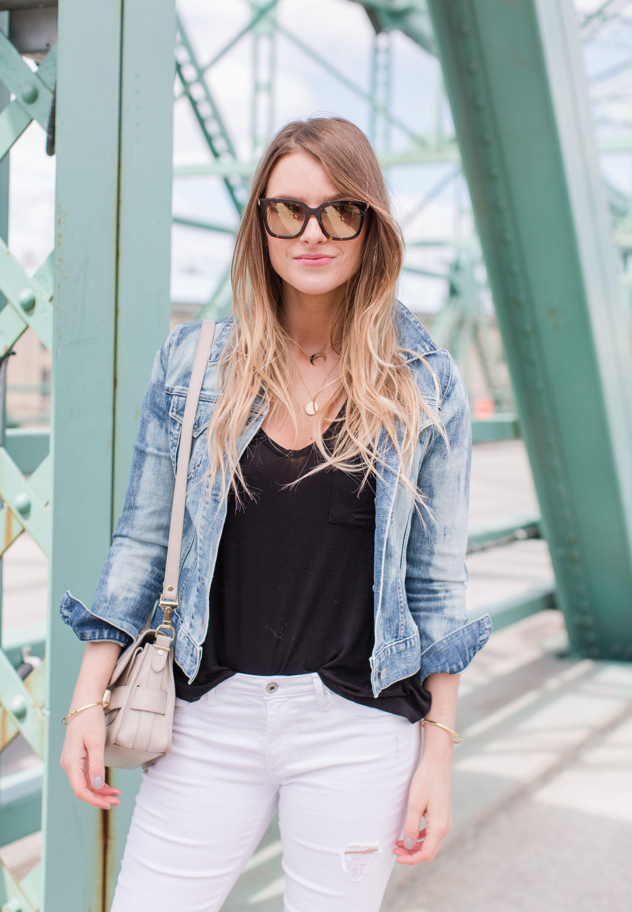 1 person, fashion blogger on bridge, Ottawa bridge