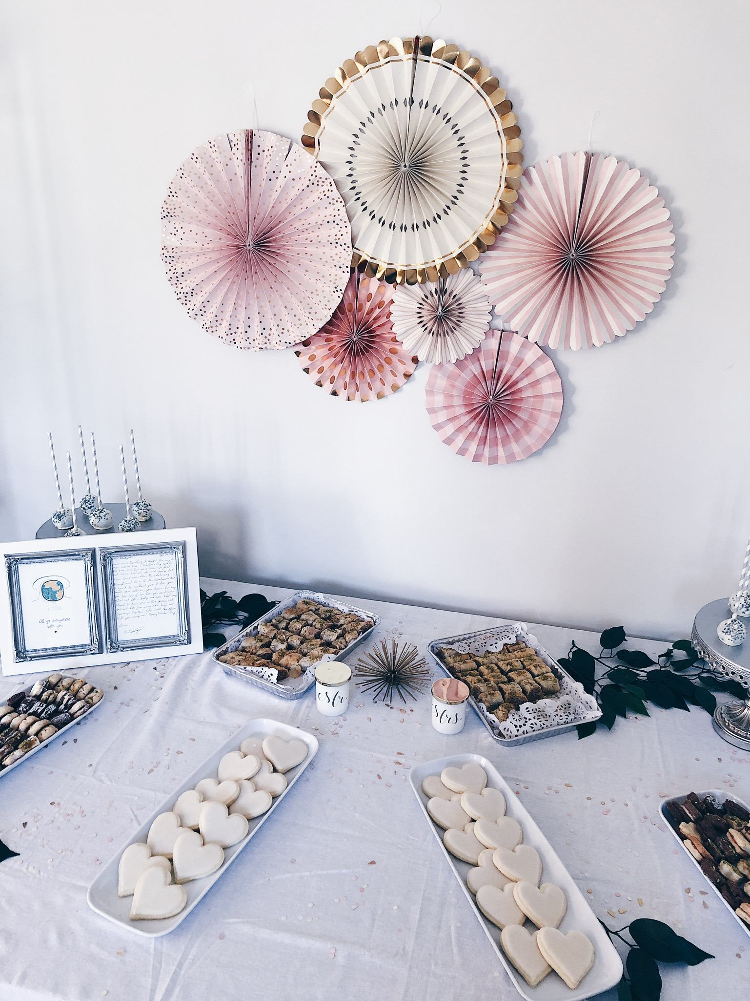 dessert table, wedding dessert table, sugar cookies