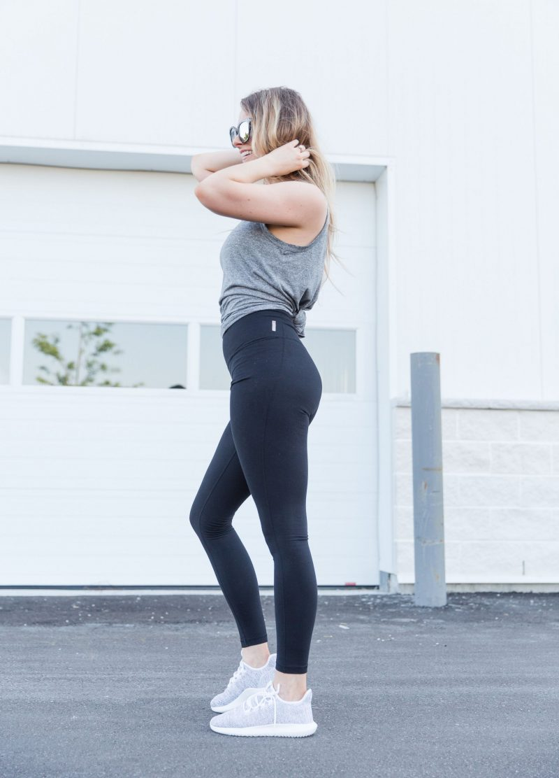 1 person, gym girl in workout outfit, adidas tubular shoes