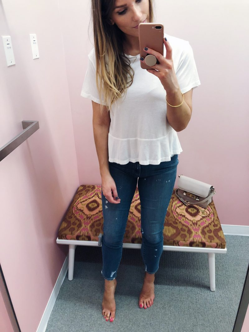 1 person, fitting room try on, Nordstrom half yearly sale