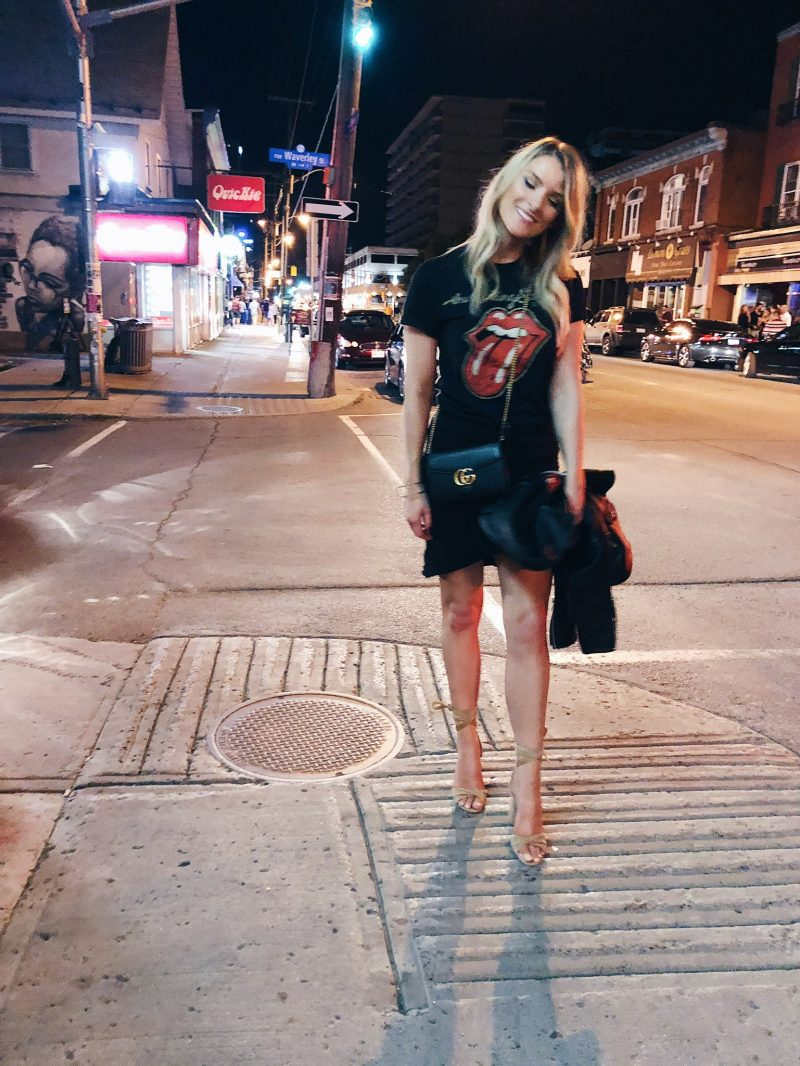 1 person, night out, downtown Ottawa