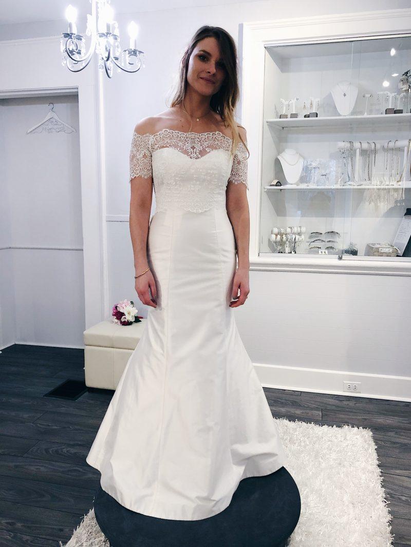 1 person, bride, girl wearing wedding dress, white satin bridal ottawa