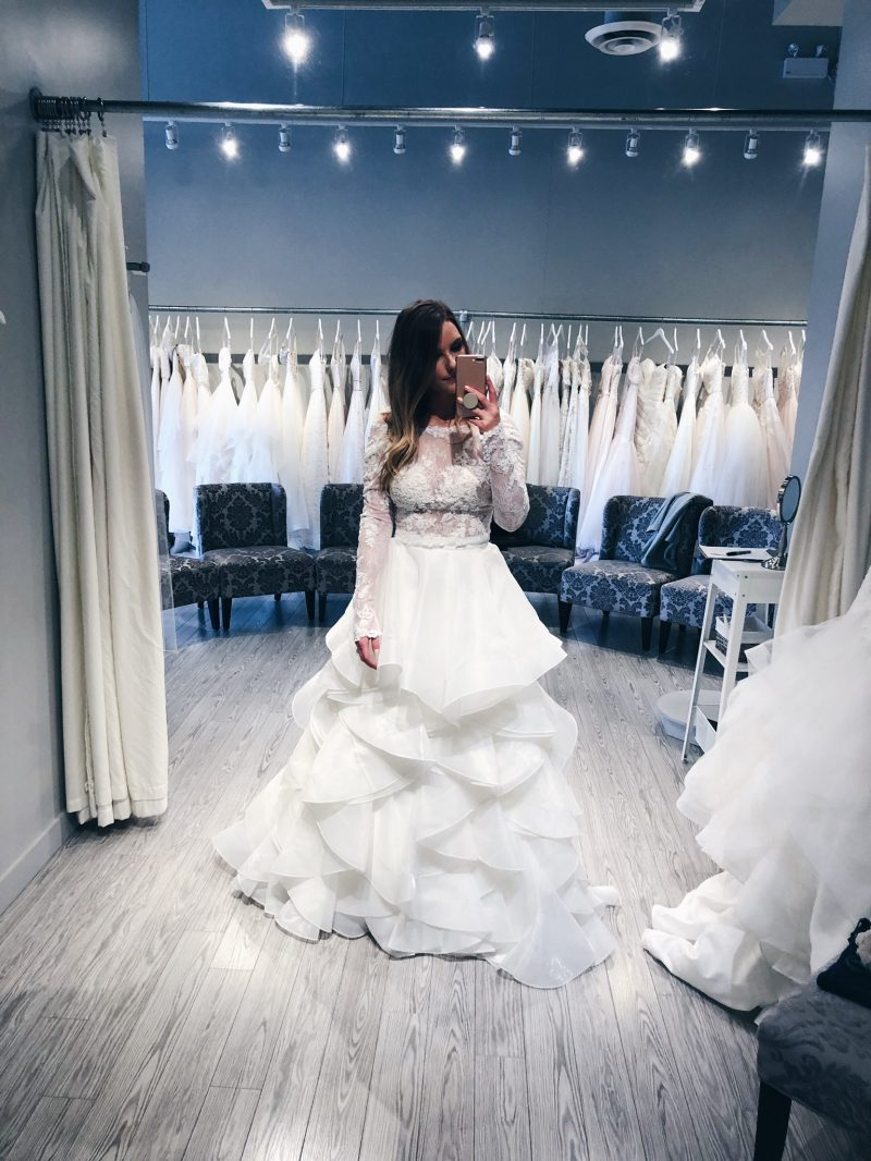 1 person, bride, girl wearing wedding dress, with love bridal ottawa