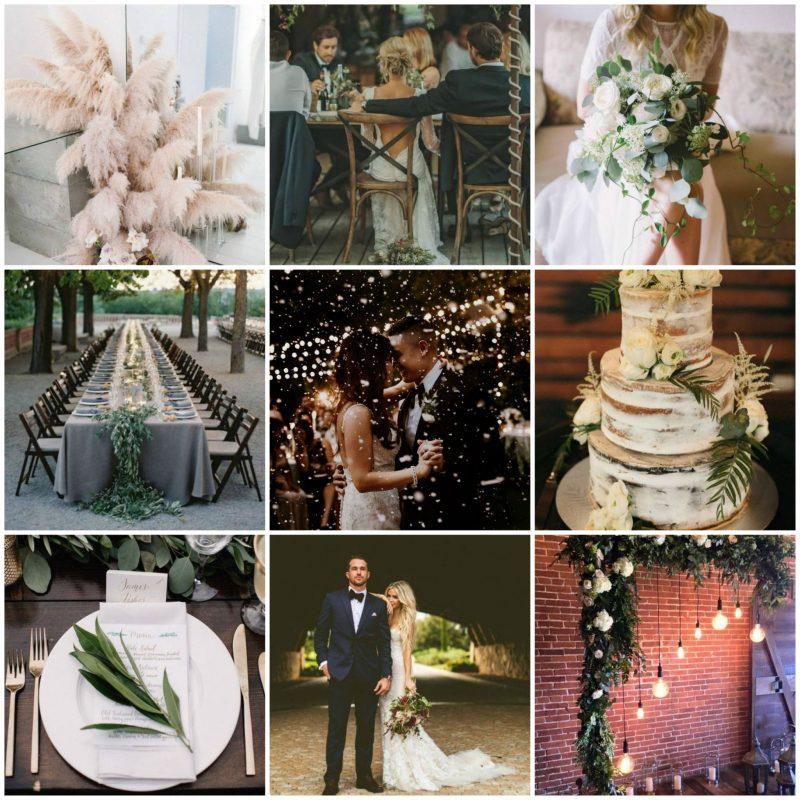wedding inspo collage, wedding mood board, italy boho wedding