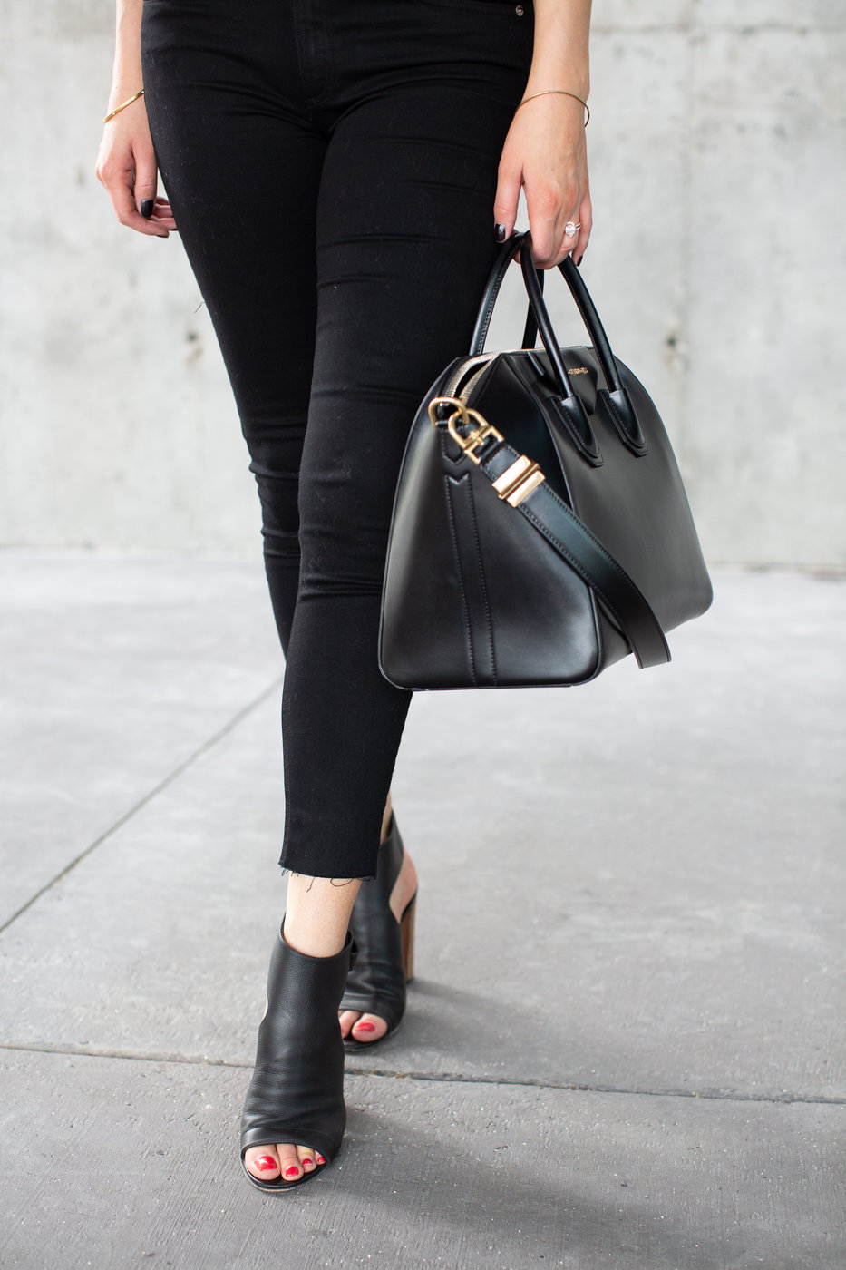 1 person, Vince Addison shoes, Givenchy antigona bag