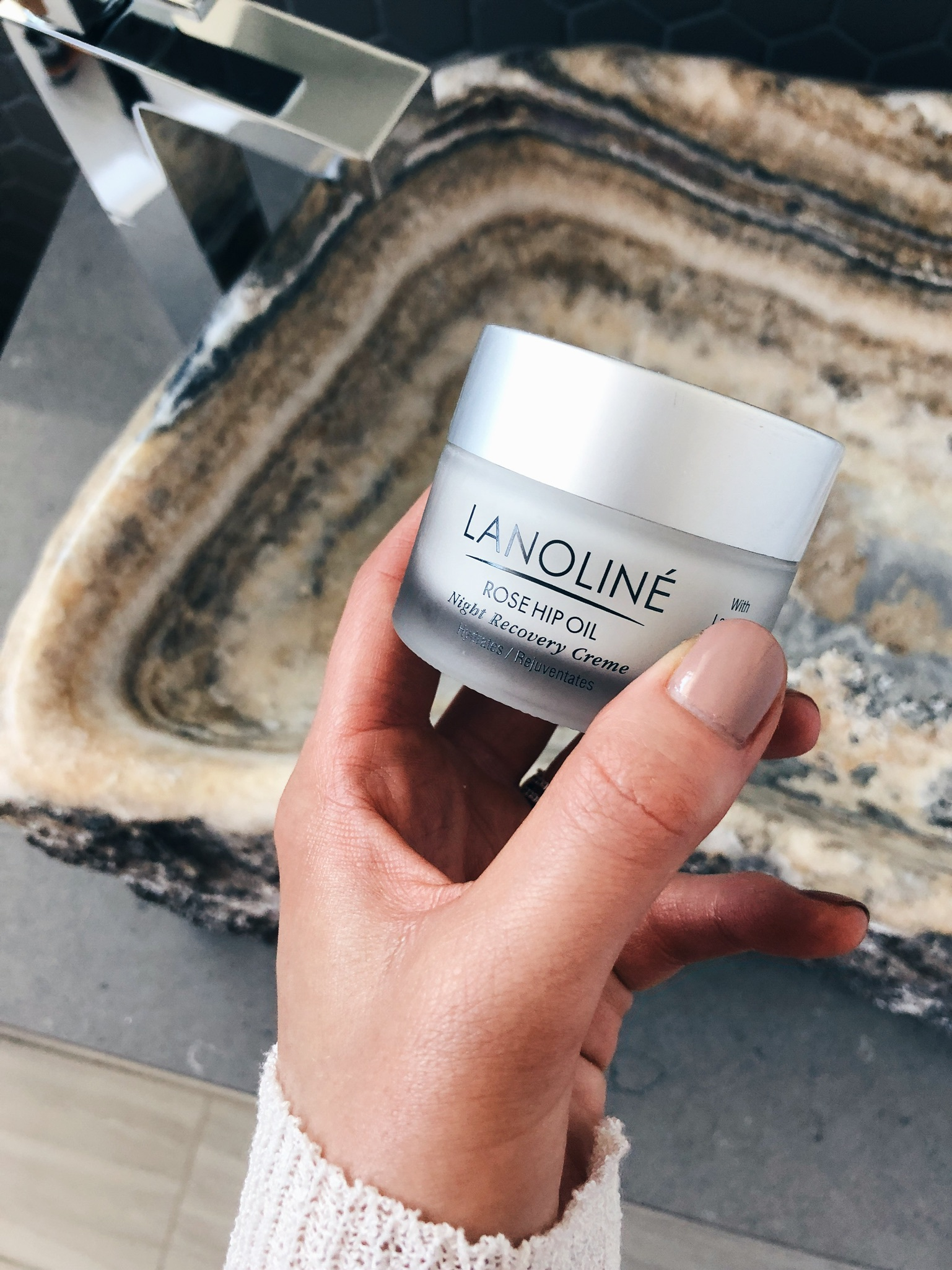 lanoline rosehip night cream