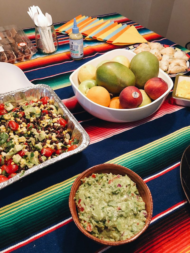 Mexican food on a table, Mexican party