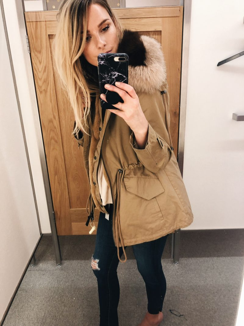 1 person, Nordstrom anniversary sale try on, Derek lam coat