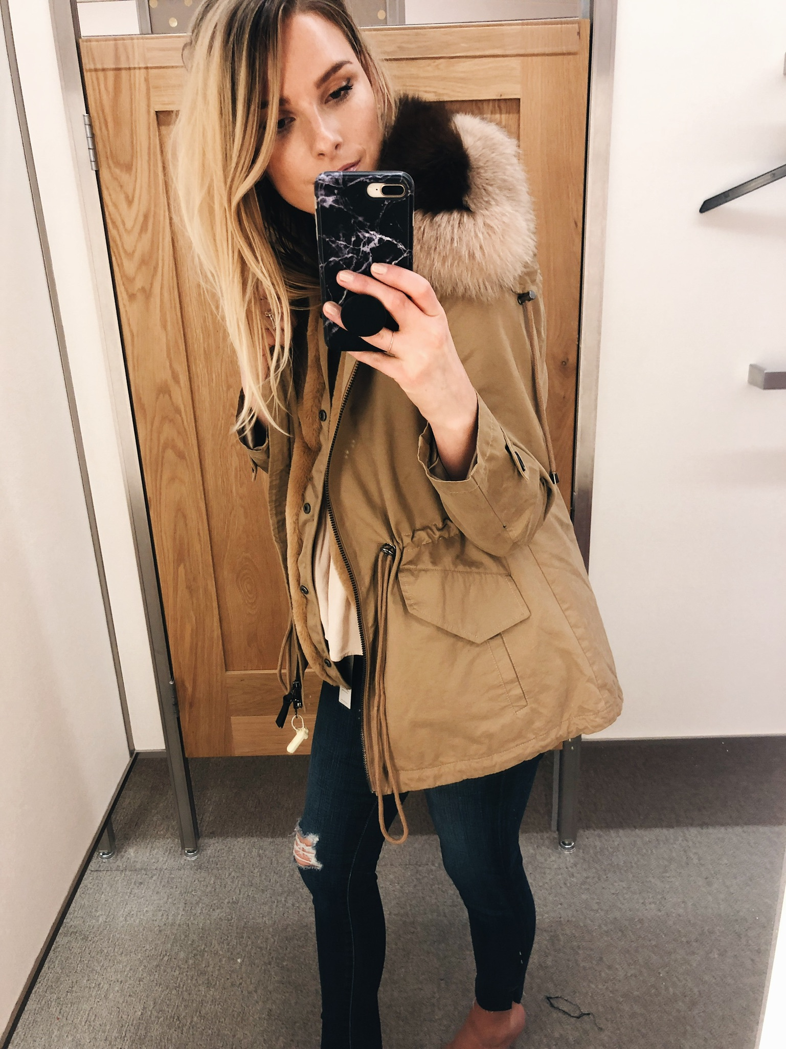 1 person, Nordstrom anniversary sale try on, Derek lam coat