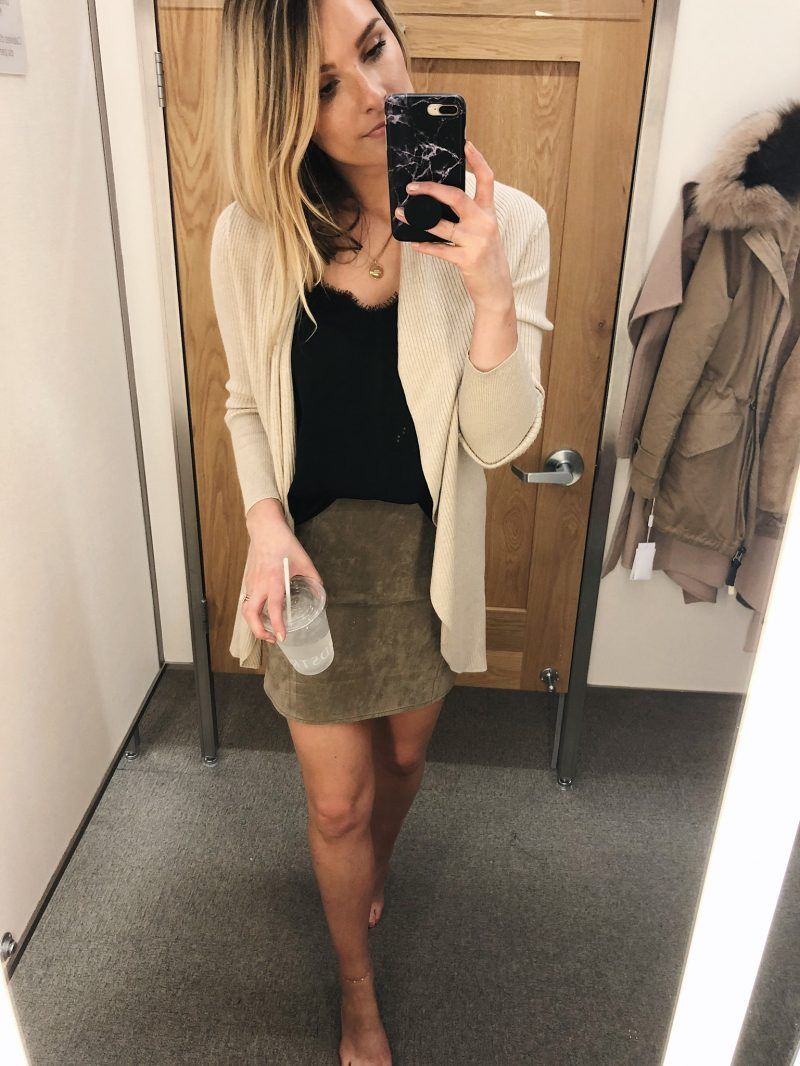 1 person, Nordstrom anniversary sale try on
