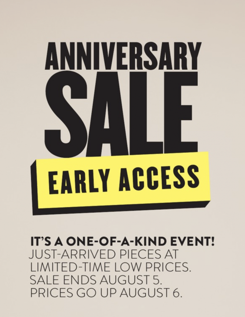 nordstrom anniversary sale early access details 2018