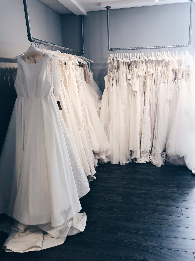 wedding dress boutique, white satin bridal ottawa