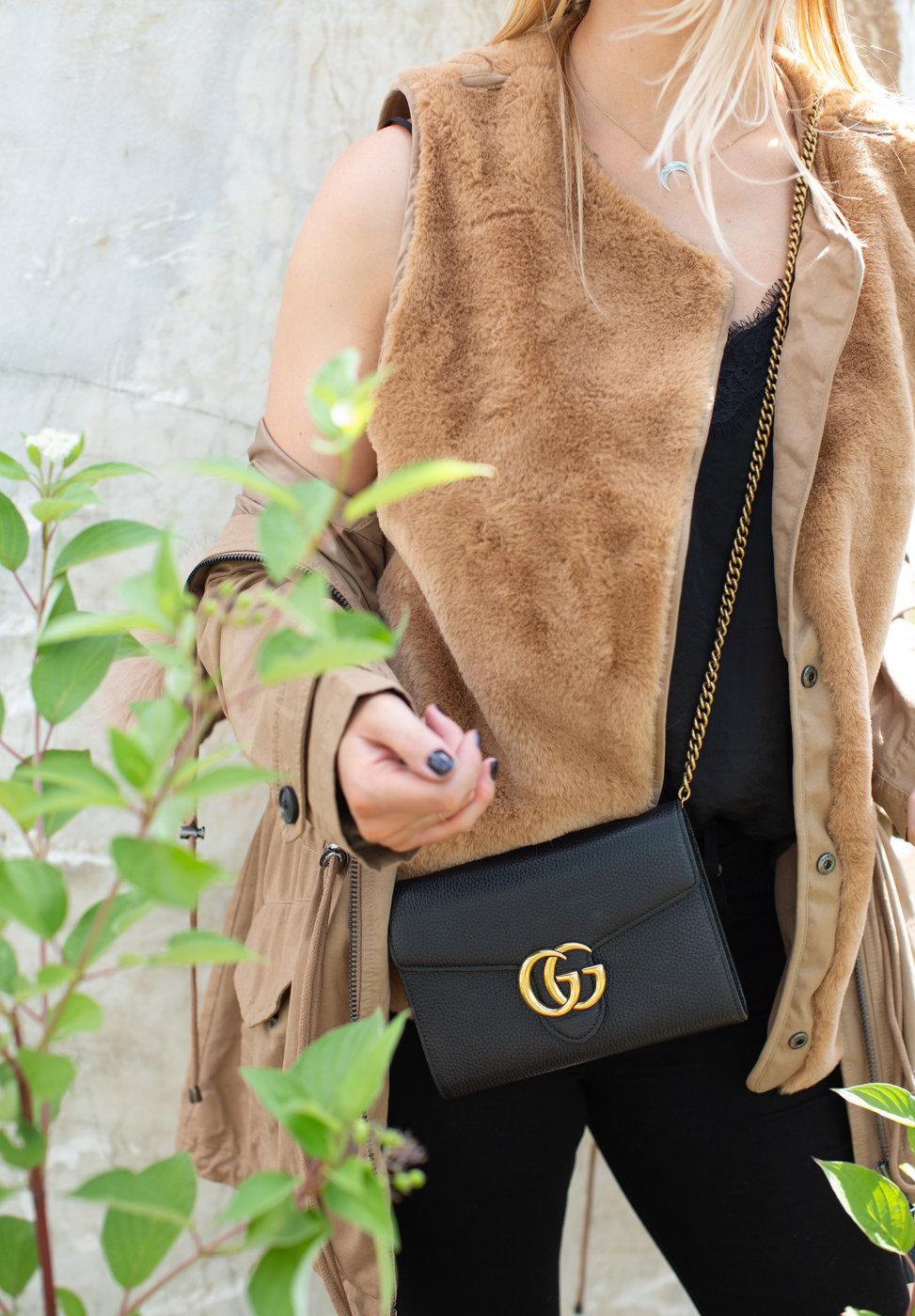 gucci marmont mini chain bag