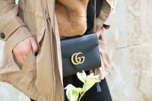 gucci mini chain cross body bag