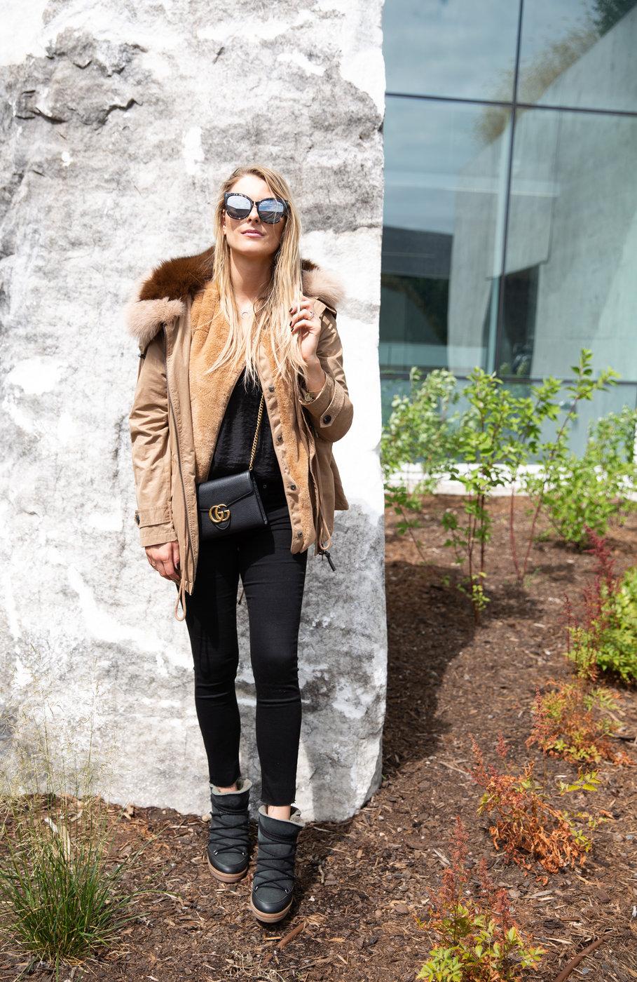 1 person, girl in fur coat