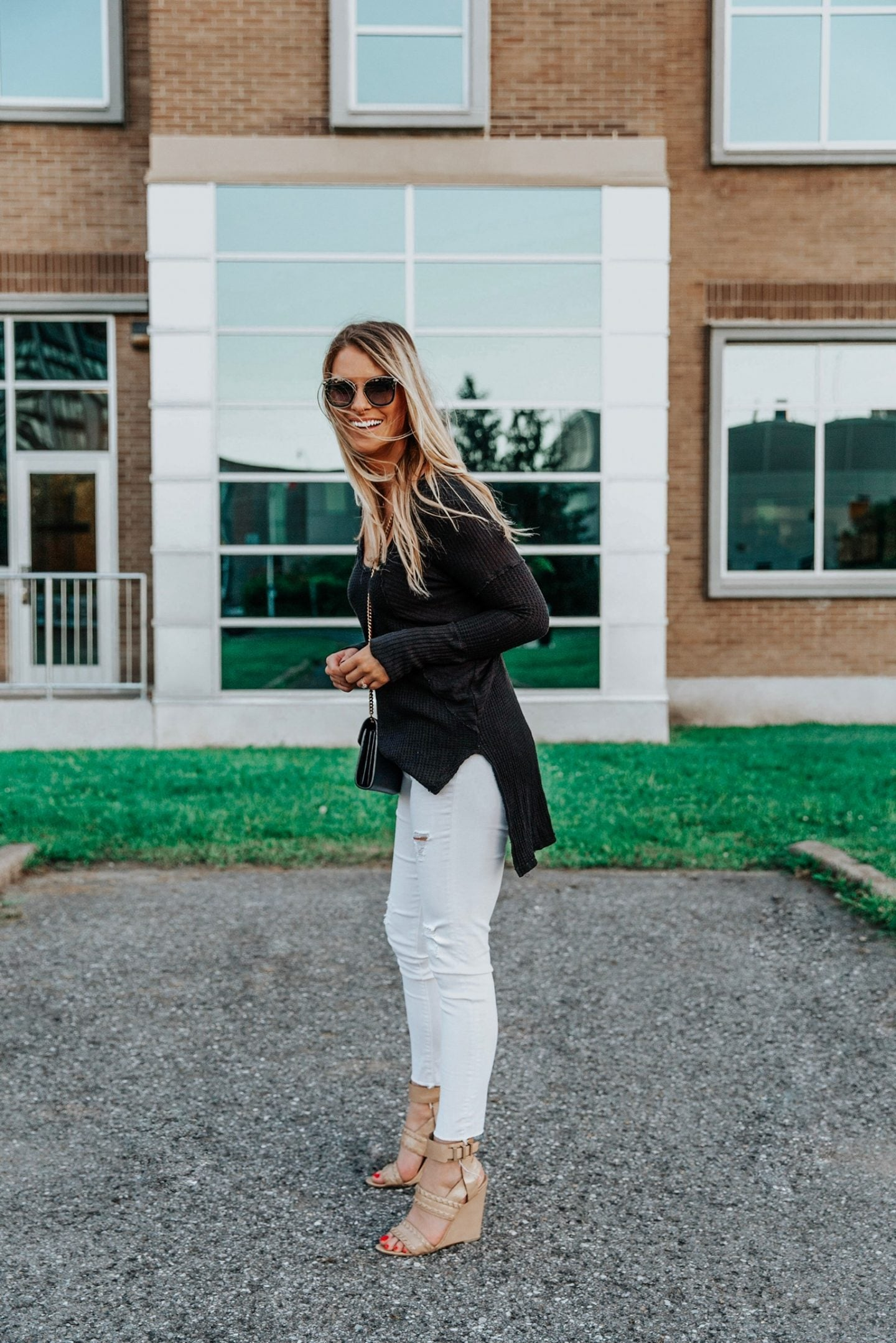 Labor Day sales, 1 person, black and white outfit