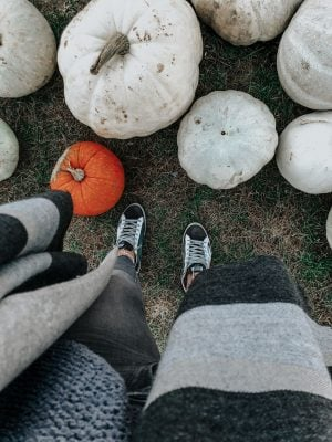 1 person, from where I stand, pumpkins