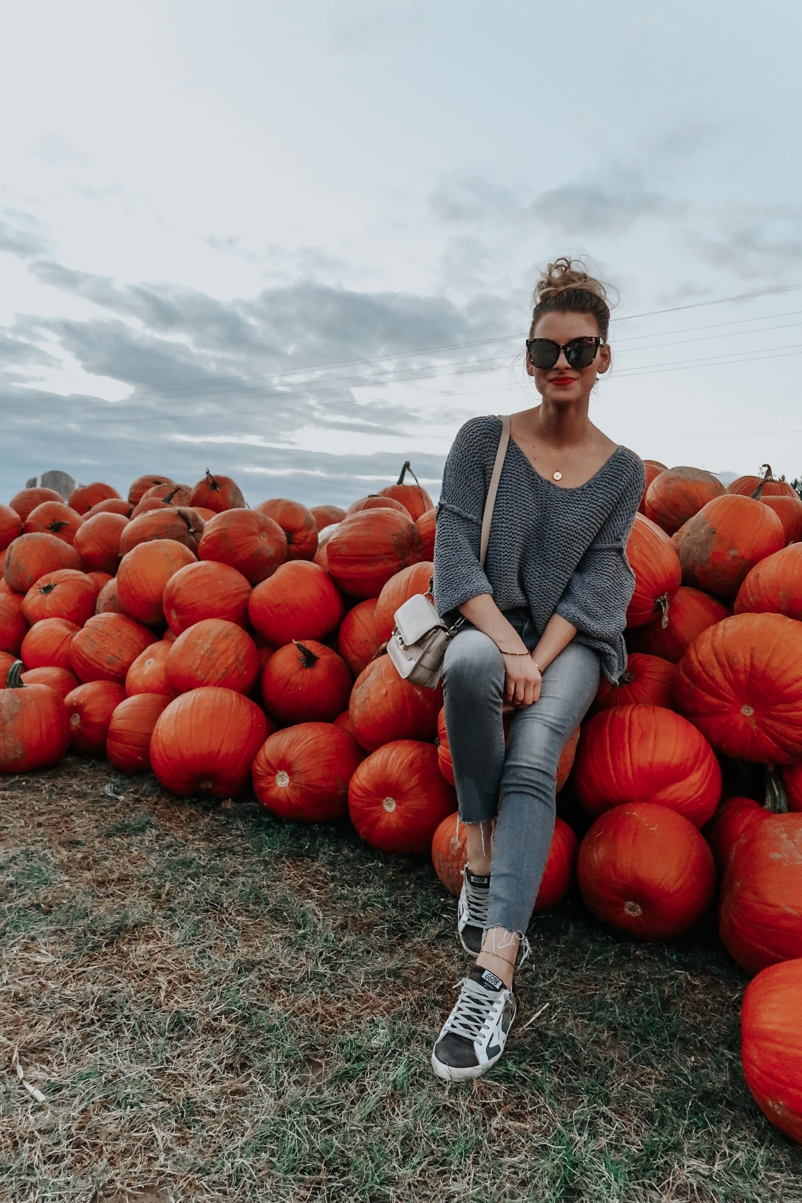 1 person, girl at pumpkin patch in Ottawa ontario
