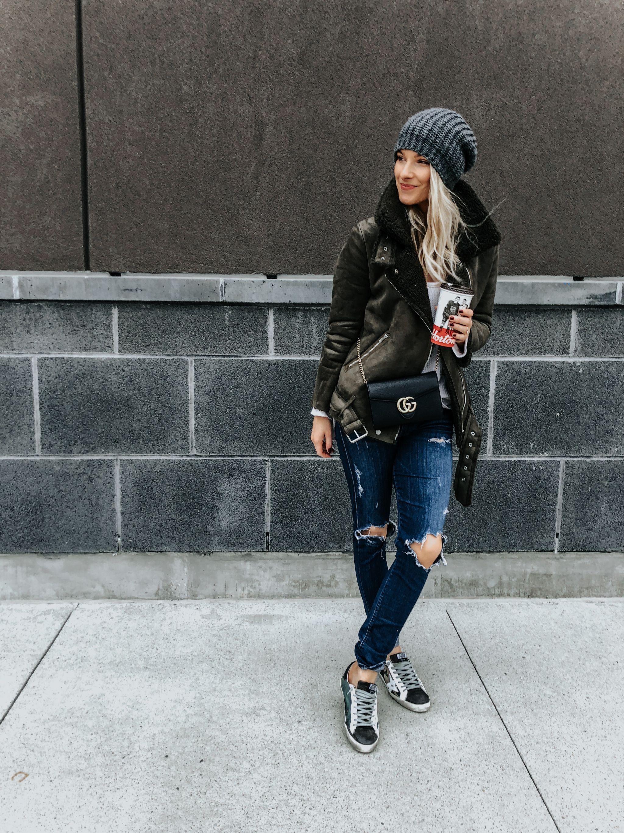 1 person, girl wearing cute fall outfit with sneakers