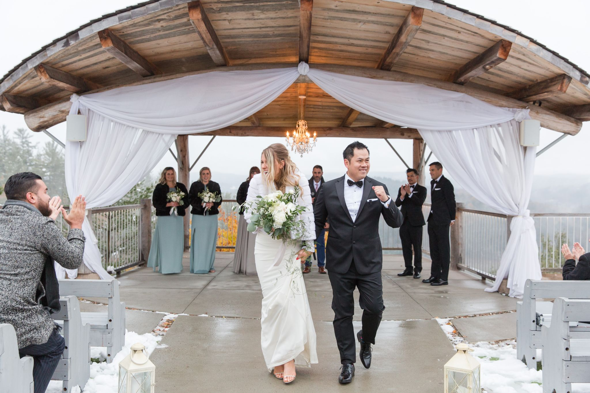 life with aco wedding, two people just married