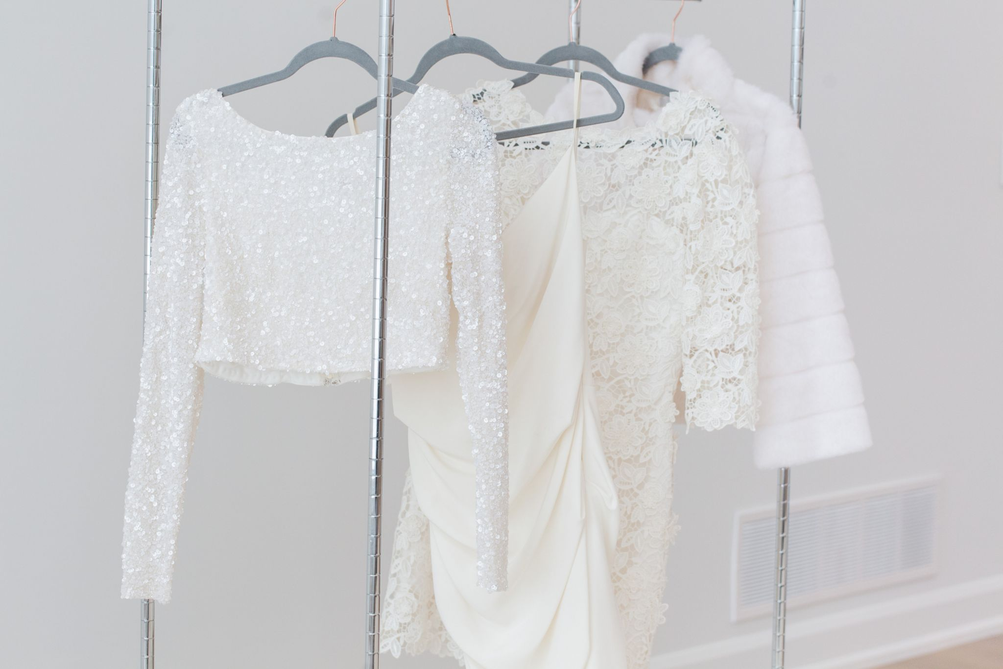 wedding dresses on rolling rack, how to take photos of a wedding dress