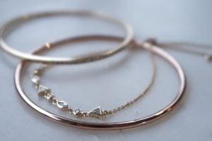 wedding jewelry, melanie auld bracelets