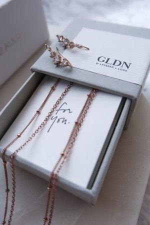 modern wedding jewelry, gldn necklace rose gold, ear crawlers
