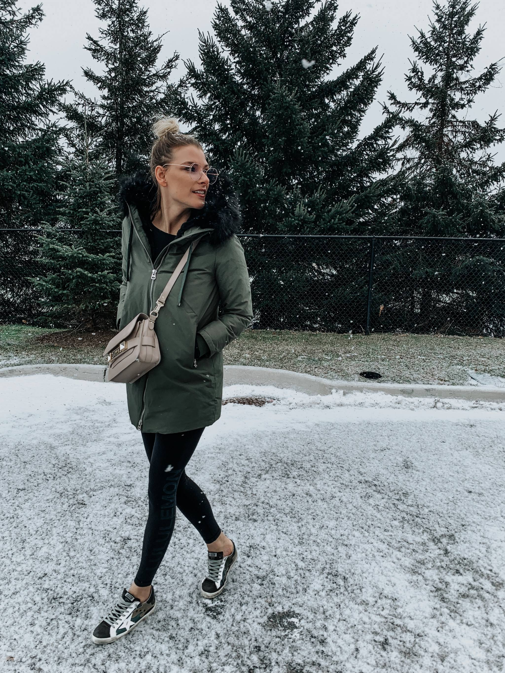 ottawa fashion blogger wearing golden goose shoes
