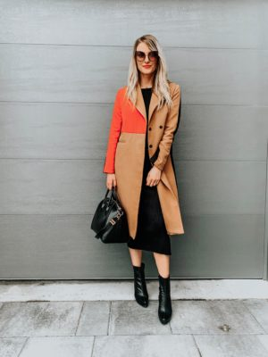 winter dress with ankle boots