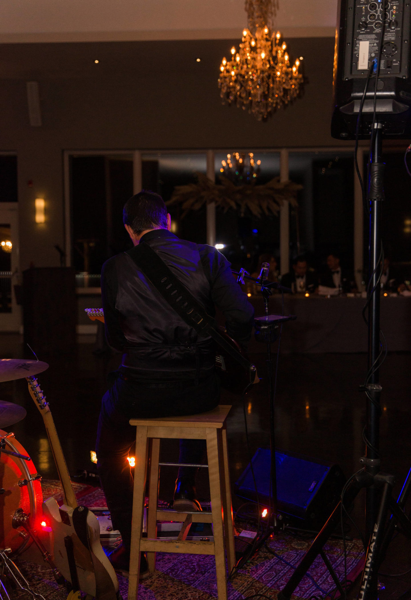 Jackson miles performs at le belvedere Wakefield wedding